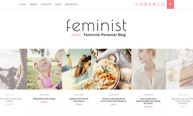 Feminist-clean-and-responsive-blogger-template