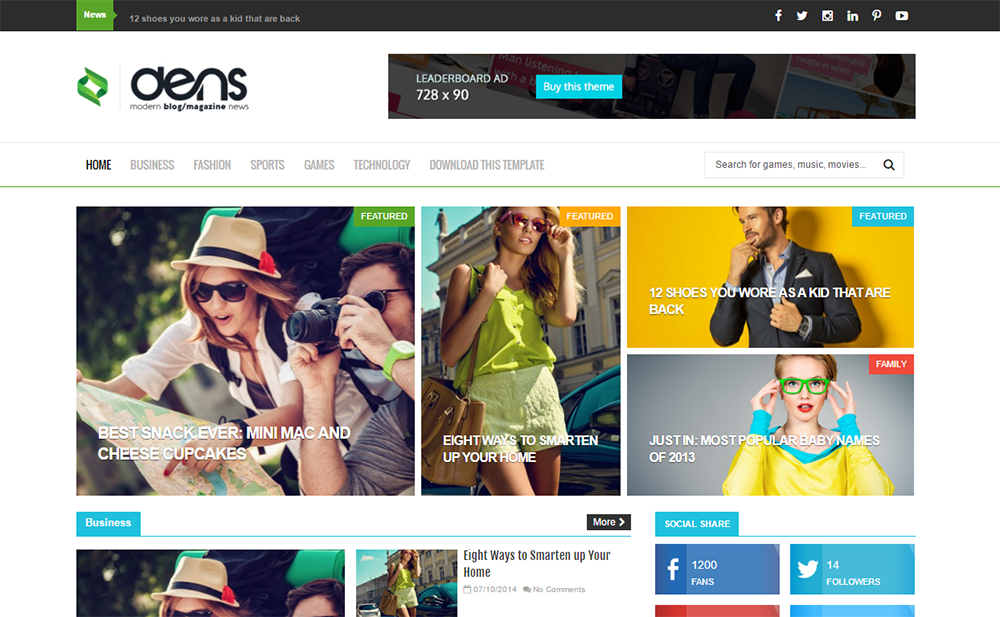 Dens Responsive Blogger Template Full Version | Premium ThemeXpose