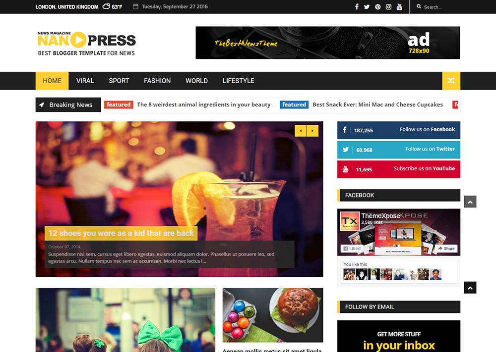 Nanopress Blogger Template – Full Version   Premium ThemeXpose