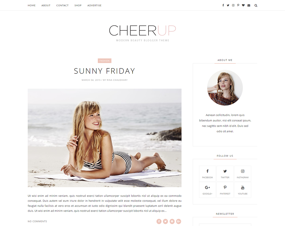 CheerUp Blogger Template Full Version | Premium ThemeXpose