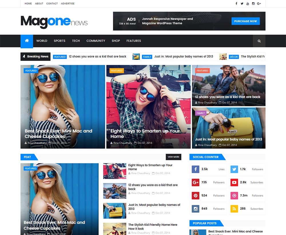 buy template blogger premium  MagOne Blogger Template Premium Version | Premium ThemeXpose