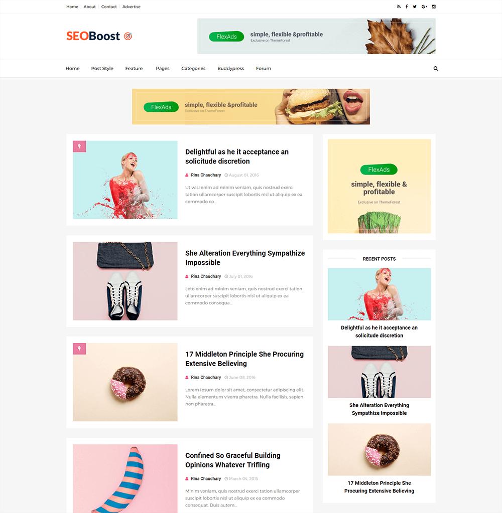 Seo Boost Blogger Template Full Version | Premium ThemeXpose
