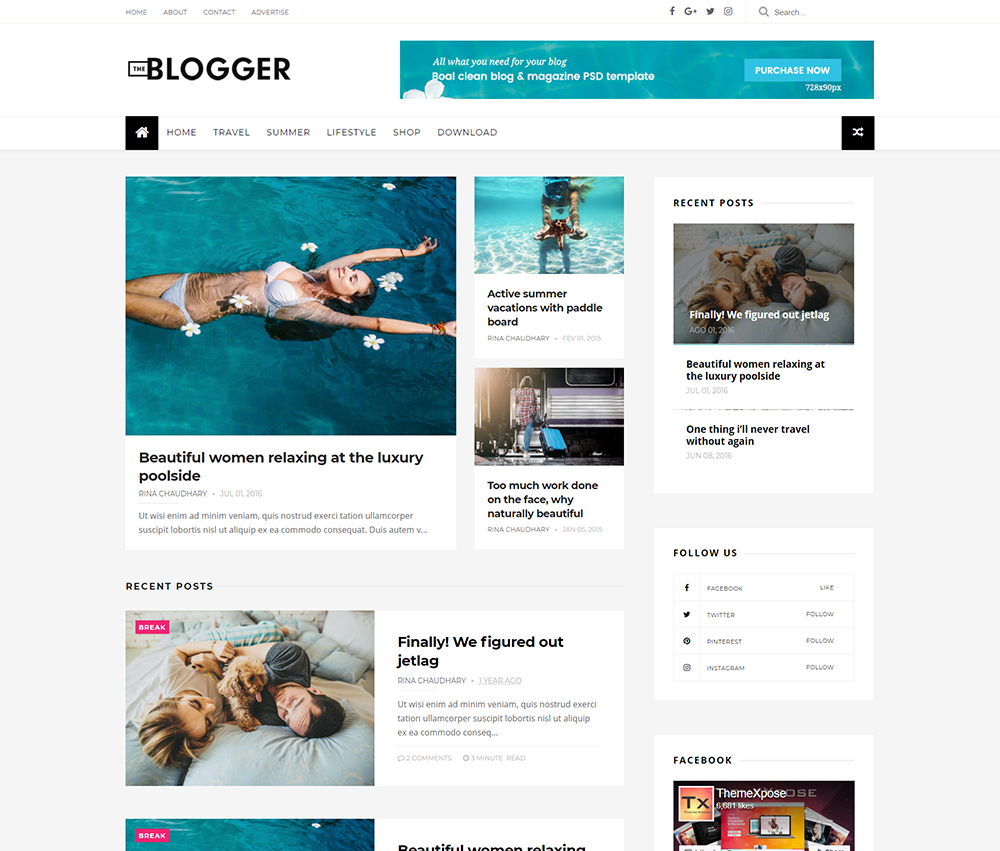 The blogger template professional installation premium for Pro photo blog templates