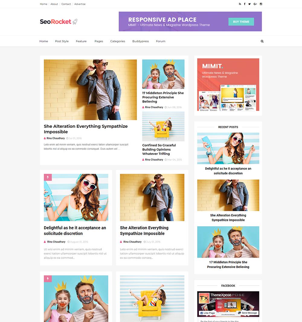 Seo Rocket Blogger Template Full Version Premium Themexpose